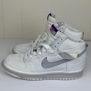 Nike Dunk High Premium Nylon White Grey, Purple
